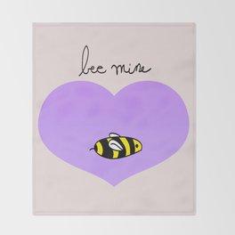 Bee Mine, Oh My Cliche Valentine Throw Blanket