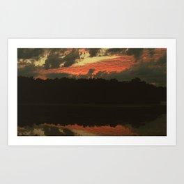 Fiery Skies Art Print