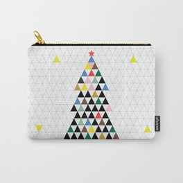 Geometric Christmas Tree Carry-All Pouch
