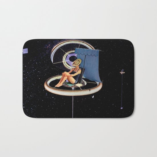 Chillin at the Space Station Bath Mat