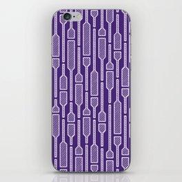 Spells - Hand Drawn Geometric Pattern (Purple) iPhone Skin