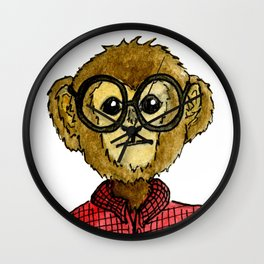 The Monkey with the Round Glasses Wall Clock
