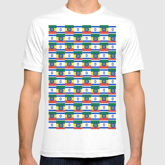 Mix of flag : israel and ethiopia T-shirt by oldking