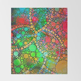 Colorful Bubble Pattern Abstract Throw Blanket