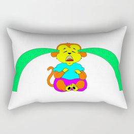 Monkey Crybaby (Green Tears) Rectangular Pillow