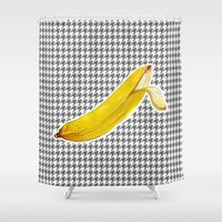 banana Shower Curtains featuring Banana by Ozghoul