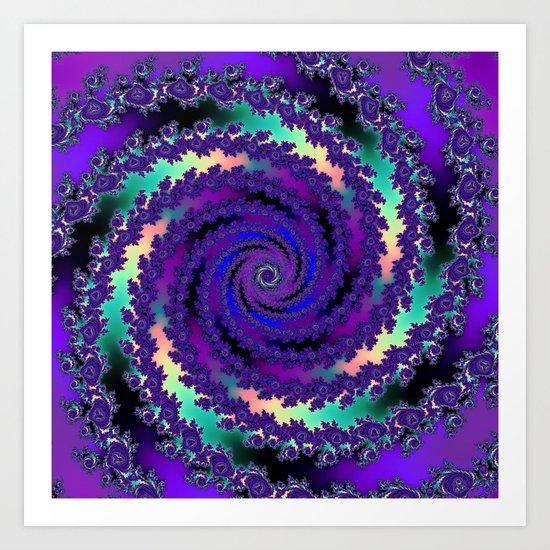 Purple Hurricane Fractal Art Print