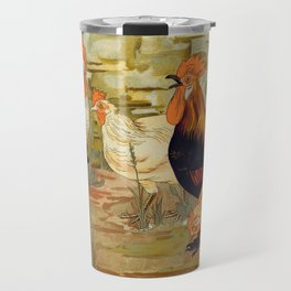 Roosters and hens Travel Mug