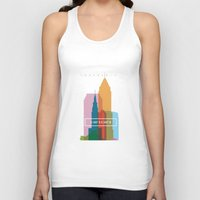 cleveland Tank Tops featuring Coordinates Project: Cleveland by Cultivating Positivity