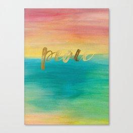 Peace, Ocean Sunset 3 Canvas Print