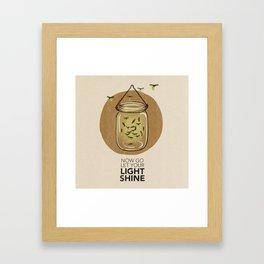 Let Your Light Shine Framed Art Print