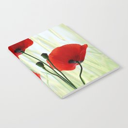 Poppies red 008 Notebook