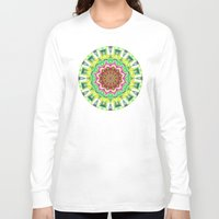 lime green Long Sleeve T-shirts featuring Lime Green Citrus Abstract by Phil Perkins
