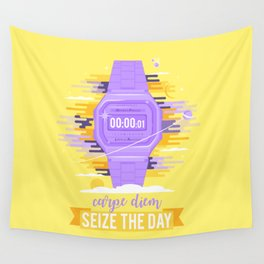 Carpe Diem - Sieze the Day [purple] Wall Tapestry