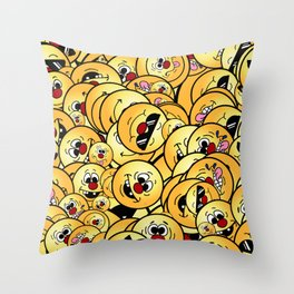 Silly Smiley Collections Grumpeys Throw Pillow