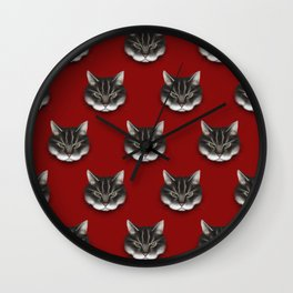 sinister kitty Wall Clock