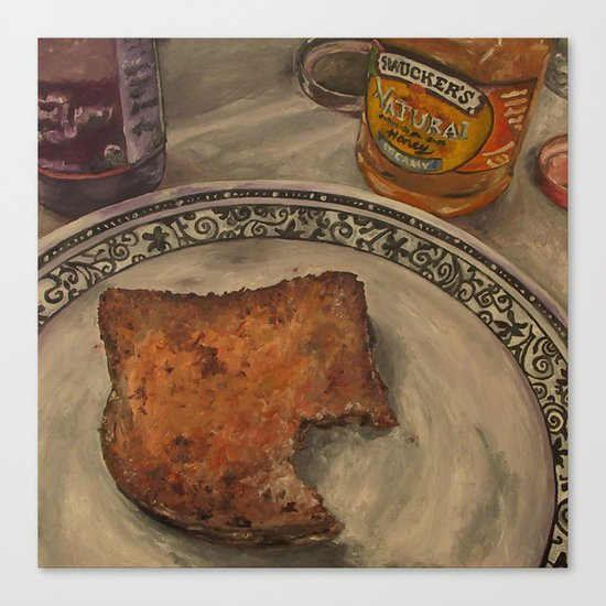 Peanut Butter and Jelly Sammich Canvas Print