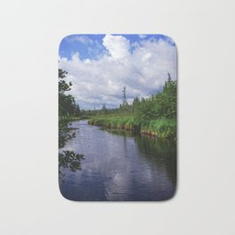 Boundary Waters Entry Point Little Indian Sioux River Bed Bath Mat