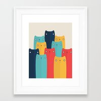 cats Framed Art Prints featuring Cats by Volkan Dalyan