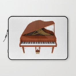 Grand Piano with Wood Finish Laptop Sleeve