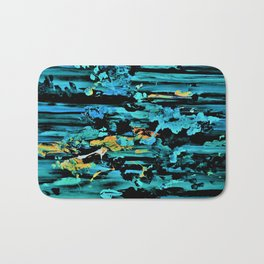 Clouds over Turbulent Waters - Abstract with Rice Paper Bath Mat