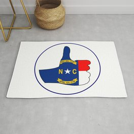 Thumbs Up North Carolina Rug