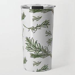 Rosemary rustic pattern Travel Mug