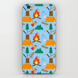 Let's Explore The Great Outdoors - Light Blue iPhone Skin