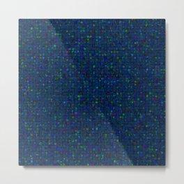 Antique Texture Blue Green Metal Print