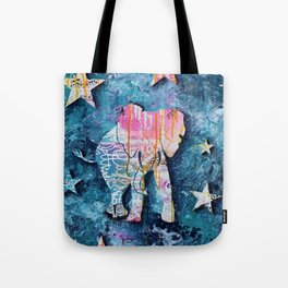 Elephant in Space Tote Bag