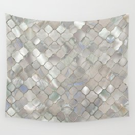 Quatrefoil Moroccan Pattern Mother of Pearl Wall Tapestry