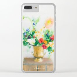 Light flowers Clear iPhone Case