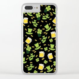 St Patricks day pattern Clear iPhone Case