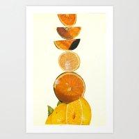Citrus Stack Art Print