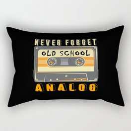 Cassette Never Forget Analog Rectangular Pillow