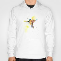 hummingbird Hoodies featuring hummingbird by emegi