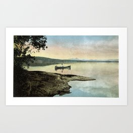 Rowing on a Silent Morning Art Print