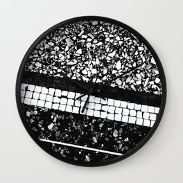 Terrazzo Pattern Black & White #1 #texture #decor #art #society6 Wall Clock