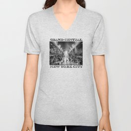 Grand Central Daylight (classic black & white edition) Unisex V-Neck