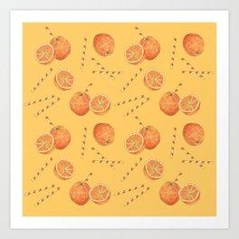 orange juice _ light Art Print