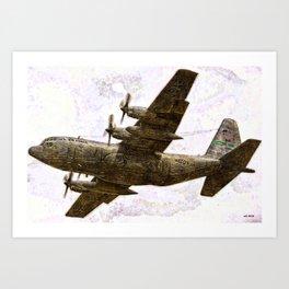 149 C130 Hercules - The Rock Art Print