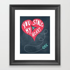 You Stole My Heart Framed Art Print