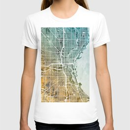 Milwaukee Wisconsin City Map T-shirt