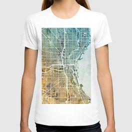 Milwaukee Wisconsin City Map T-shirt