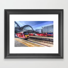 Kings Cross London Trains Framed Art Print