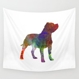 Staffordshire Bull Terrier in watercolor Wall Tapestry