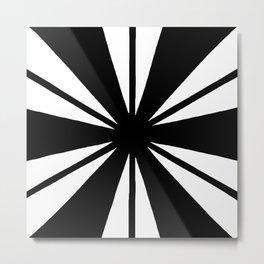 Black and White Bam Metal Print