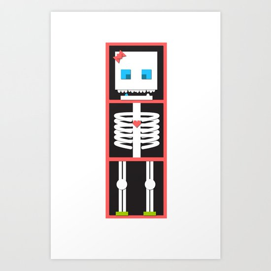 miss skelington Art Print