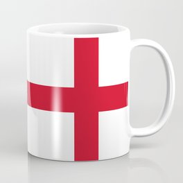 Flag of England (St. George's Cross) - Authentic version to scale and color Coffee Mug
