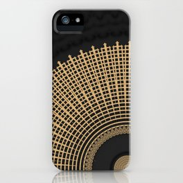 Gold Coin Mandala on Marble iPhone Case